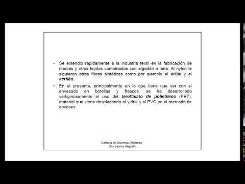 Polimeros - Historia y Aplicaciones / Clase 1