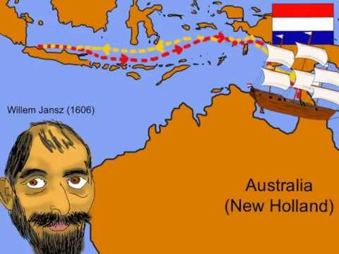 Learn about the Early Explorers of Australia in this animated rap. Lyrics to rap. Willem Jansz: Back in March 1606, Dutchexplorer Willem Jansz, Co-mman-ded t...
