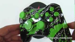 GREEN SPLATTER XBOX360 - CUSTOM DESIGNS - XBOX360 | HG Arts Modz