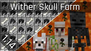 Wither Skeleton Skull Farm v2.0 Tutorial | Minecraft 1.14 (Java Edition)