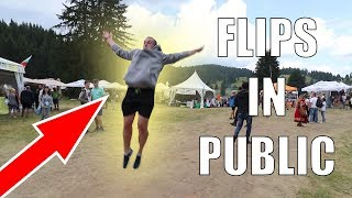 PEOPLE REACTING TO CRAZY FLIPS IN BULGARIA