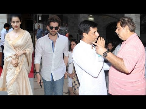 Kangana Ranaut and other Bollywood stars at Madhur Bhandarkar's mother's prayer meet