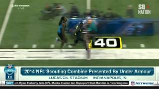 Watch Jadeveon Clowney, Greg Robinson run ridiculous NFL Combine 40s