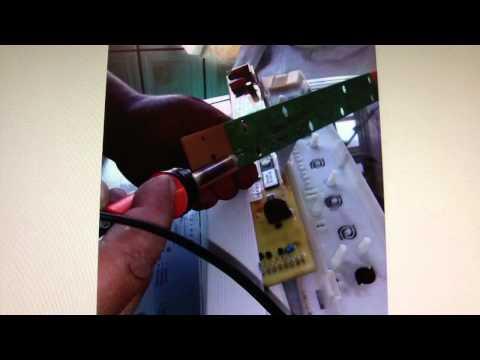 Como consertar placa eletrônicada lavadora?