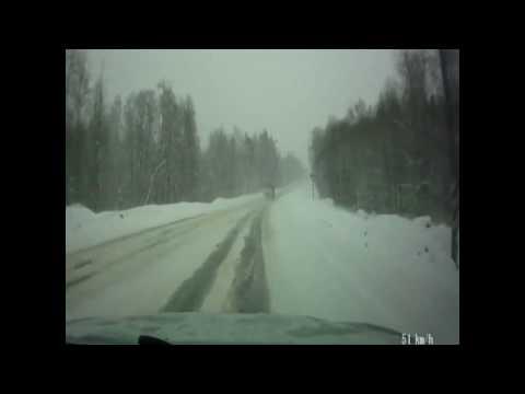 Занос на зимней дороге. Везение ::: ДТП авария НЕТ