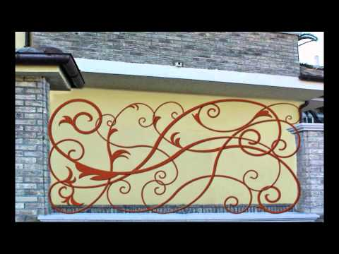 wrought iron modern Italian design mounting easy DIY