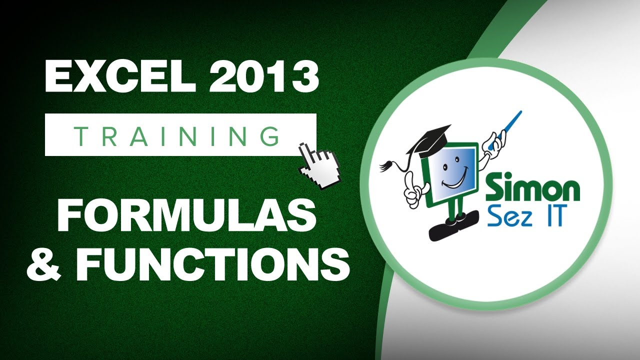 microsoft excel 2013 training formulas and functions