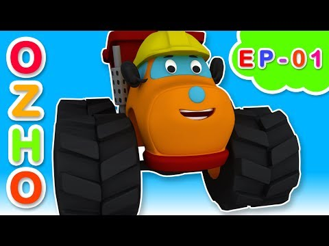 Learn Direction Song with Monster Truck OZHO | Car Cartoon Songs & Rhymes for Kids -01