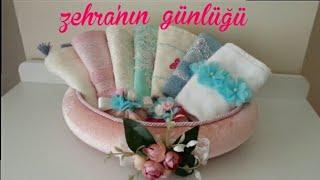 Havlu süsleme - Çeyiz hazırlığı DIY