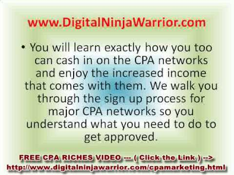CPA Affiliate Marketing Online Millionaire