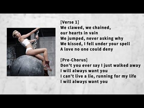 Miley Cyrus - Wrecking Ball ( LYRICS - KARAOKE - INSTRUMENTAL ) PIANO VERSION