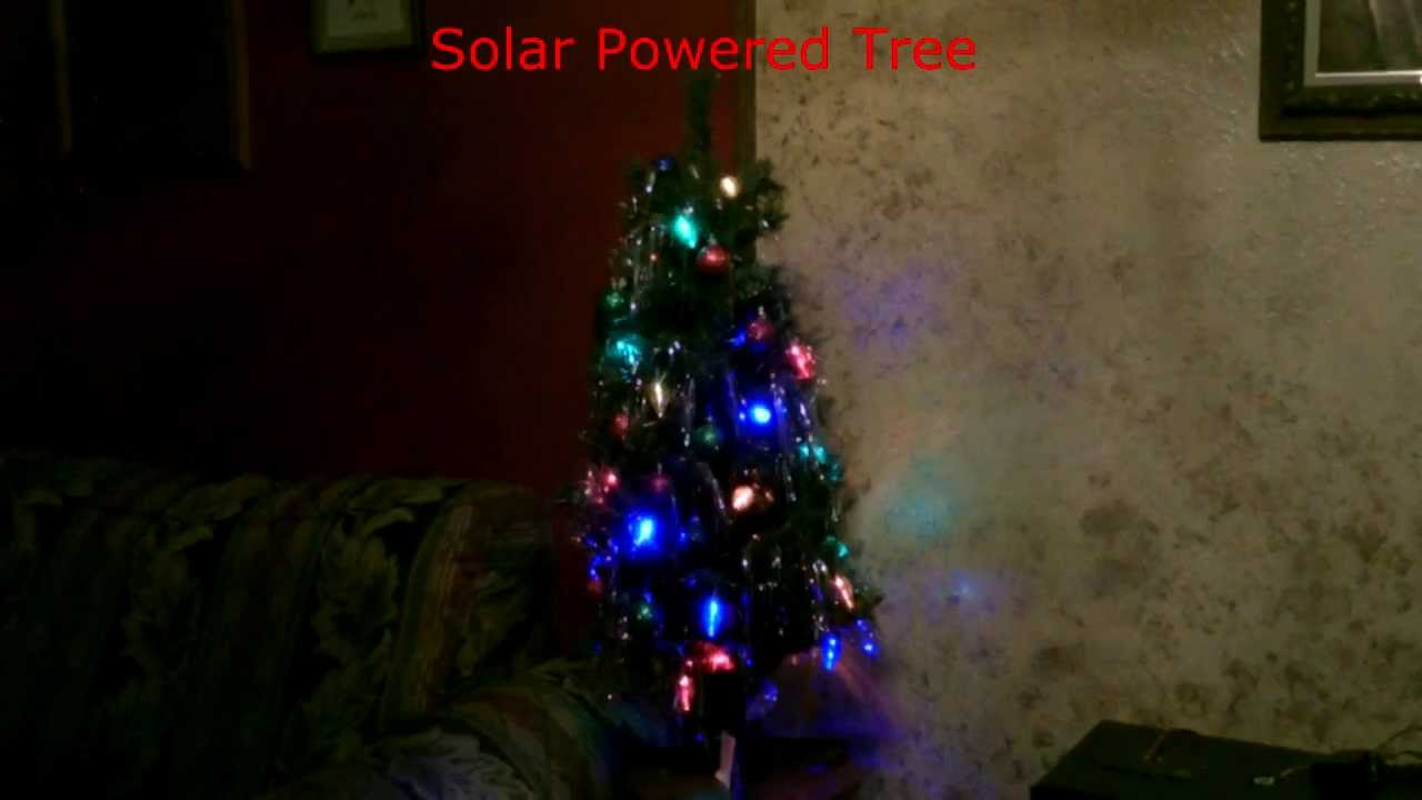 Proper Way To String Lights On A Christmas Tree : Solar Powered Christmas Lights/Christmas Tree - Simple DIY - QuickView - YouTube