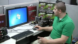 ASUS GTX580 SLI scaling performance on the Rampage III Formula video