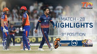 Match 28 3rd Position, Bengal Tigers vs Maratha Arabians, T10 League 2018
