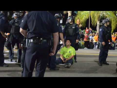 Civil Disobedience at Walmart, Protesting Income Inequality (The intimidation and arrests begin)