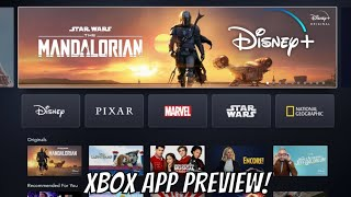 Disney+ Is Available Now! Xbox App Preview!