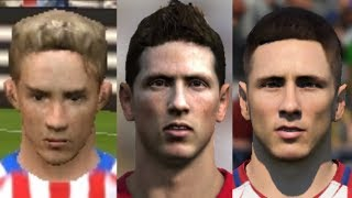 Torres transformation from FIFA 04 to FIFA 18
