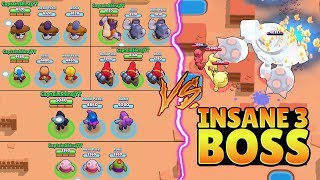 TRIPLE SAME BRAWLER VS INSANE 3 BOSS :: Trolling Boss | Brawl Stars Funny Gameplay