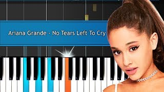 "Download Lagu Ariana Grande - ""No Tears Left To Cry"" Piano Tutorial - Chords - How To Play - Cover Gratis STAFABAND"