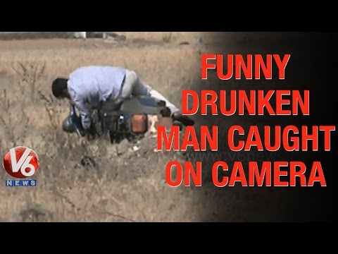 Funny Act By A Drunken Man In Vikarabad - Caught On Camera - Teenmaar News video