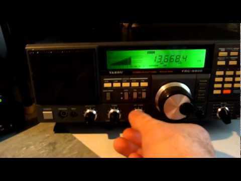 Yaesu FRG 8800 Ham Radio Receiver My Movie Of Its Test