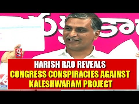 Harish Rao Reveals Congress Conspiracies Against Kaleshwaram Project | V6 News