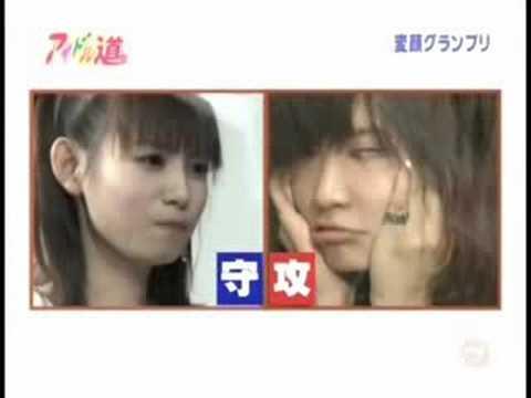 中川翔子とサエコが変顔で対決