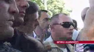 Ivanishvili`s meeting with locals in Shida Kartli ended with a clash