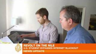US student bypasses Egypt's web blackout
