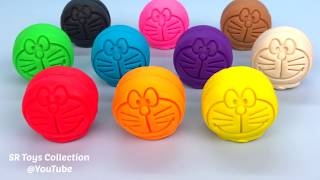 10 Color Play Doh Doraemons Learn Colors and Numbers with Animal Molds Surprise Toy Paw Patrol