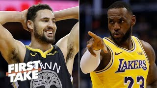 Lakers should target Klay if they believe LeBron is still 'LeBron James' – Stephen A. | First Take