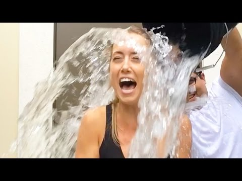 THROWING WATER ON GIRLS!!
