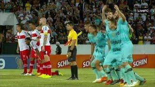 Veja a dramática disputa de pênaltis entre Santa Cruz e CRB na Copa do Nordeste 2019