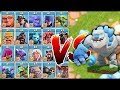 """ALL TROOPS vs. ICE GOLEM!! """"Clash Of Clans"""" WHO WILL WIN!!?!"""