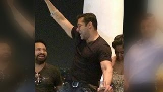 Salman Khan Dancing At Chiranjeevi Birthday Celebration 2015 LEAKED