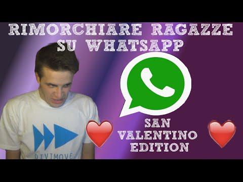 Rimorchiare ragazze con whatsapp a San Valentino