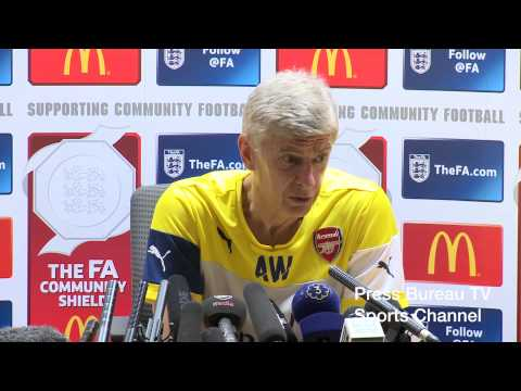 Arsene Wenger pre Arsenal vs Man City Charity Shield