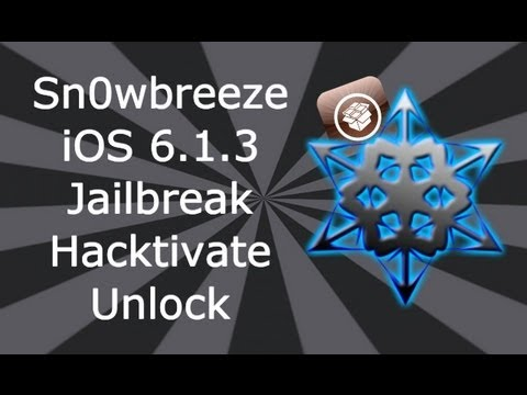 NEW Sn0wbreeze 6.1.3 Jailbreak. Hacktivate / Unlock For iPhone 4. 3GS & iPod Touch 4