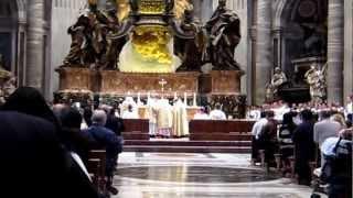 Cardinal Canizares St. Peter's Basilica - Introitus