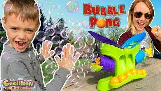WHO GETS BLASTED?! Bubble Pong by Gazillion Bubbles
