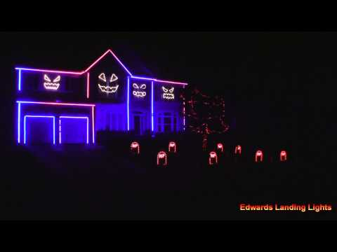 Halloween Light Show 2014 - Bang Bang by Jessie J, Ariana Grande, Nicki Manaj