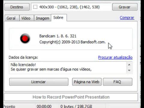 Como usar o gravador Bandicam (TOTARIAL)