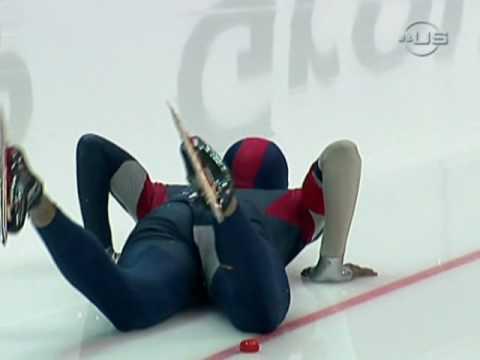 Shani Davis cut in crash