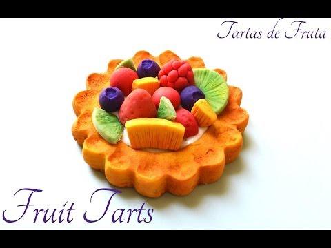 Fruit Tarts Polymer Clay/ Cold Porcelain Tutorial   Tarta de Frutas Porcelana Fría