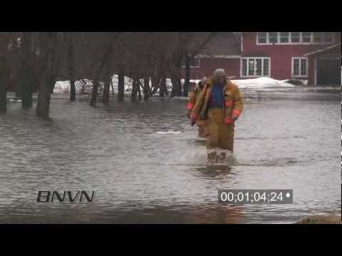 3/14/2010 Red River Valley Flooding Stock Footage B-Roll