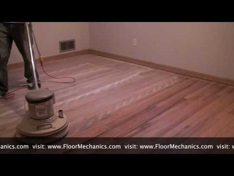 hardwood floor finishing video