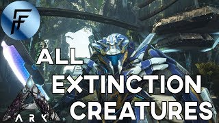 SPAWN ALL EXTINCTION CREATURES ADMIN COMMANDS!!! ARK: Survival Evolved