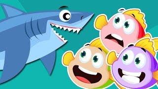 Three Little Fishies 🐟 🐟 🐟 | Three Little Fishies Song 🐟 🐟 🐟 | Nursery Rhyme With Lyrics