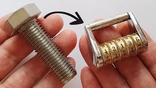 I turn a Stainless Bolt into a Combination Lock