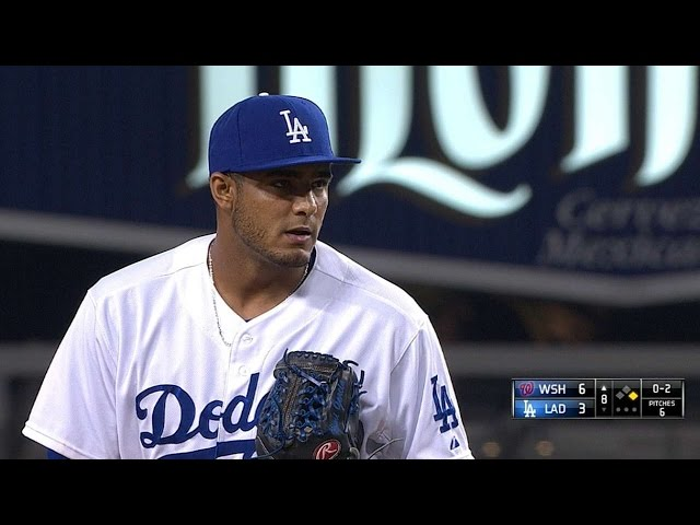 WSH@LAD: Y. Garcia goes two scoreless in MLB debut